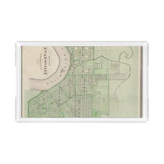 Plan de Evansville, Vanderburgh Co Bandeja Rectangular