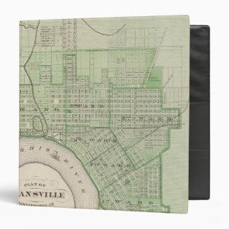 "Plan de Evansville, Vanderburgh Co Carpeta 1 1/2"""