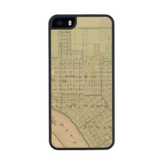 Plan de Evansville, Vanderburgh Co Funda De Arce Carved® Para iPhone 5