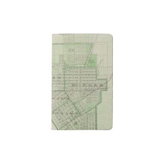 Plan de Evansville, Vanderburgh Co Funda Para Libreta Y Libreta Pequeña Moleskine