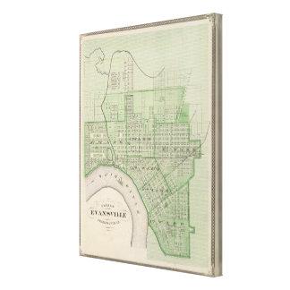 Plan de Evansville, Vanderburgh Co Impresiones De Lienzo