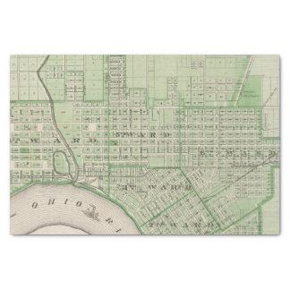 Plan de Evansville, Vanderburgh Co Papel De Seda Pequeño