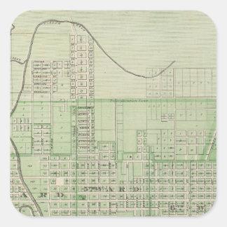 Plan de Evansville, Vanderburgh Co Pegatina Cuadrada