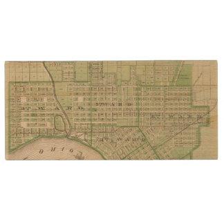 Plan de Evansville, Vanderburgh Co Pen Drive De Madera USB 2.0