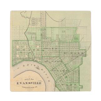 Plan de Evansville, Vanderburgh Co Posavasos De Arce