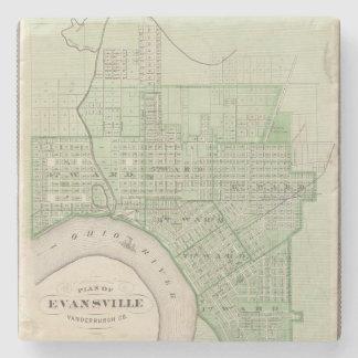 Plan de Evansville, Vanderburgh Co Posavasos De Piedra