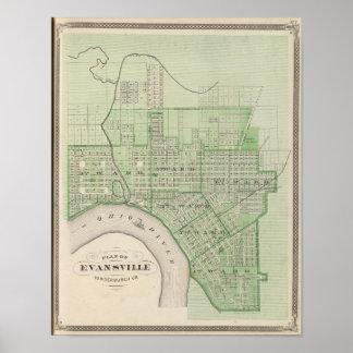 Plan de Evansville, Vanderburgh Co Póster