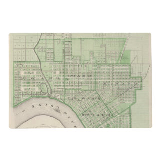 Plan de Evansville, Vanderburgh Co Tapete Individual