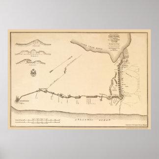Plan de Fisher del fuerte Póster