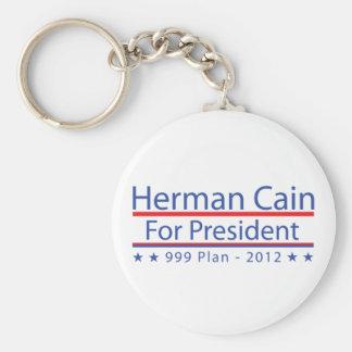 Plan de Herman Caín 999 Llavero Redondo Tipo Pin
