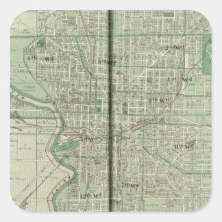Plan de Indianapolis Pegatina Cuadrada