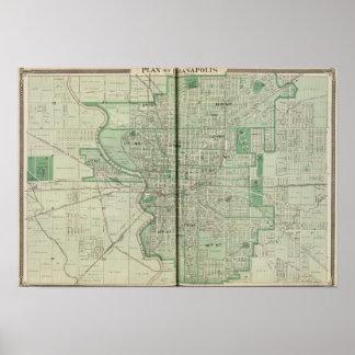 Plan de Indianapolis Póster
