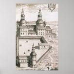 Plan de la abadía benedictina del Santo-Riquier Posters