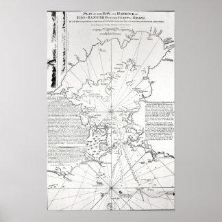 Plan de la bahía y del puerto de Río de Janeiro Poster