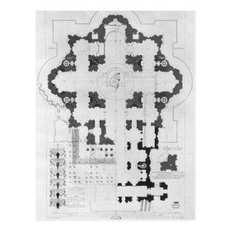 Plan de la basílica de San Pedro Postal