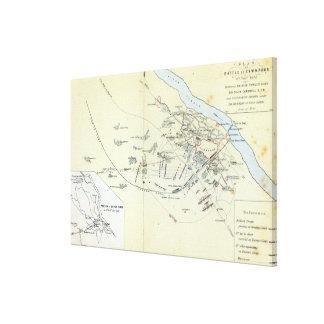 Plan de la batalla de Cawnpoor Impresión En Lona Estirada