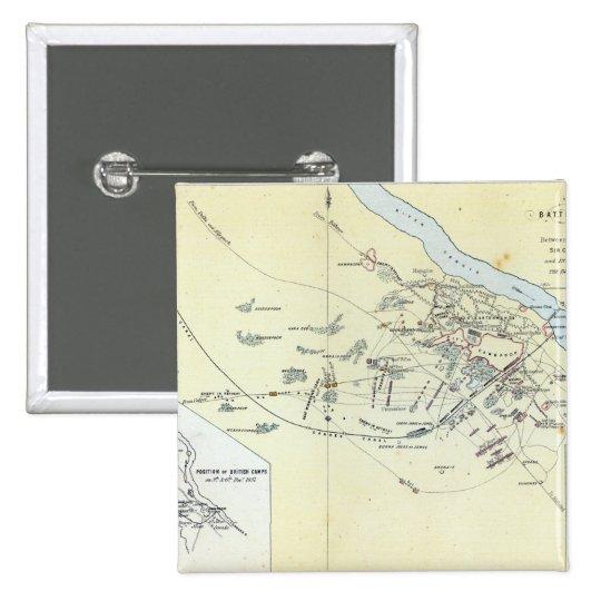 Plan de la batalla de Cawnpoor Pin Cuadrado