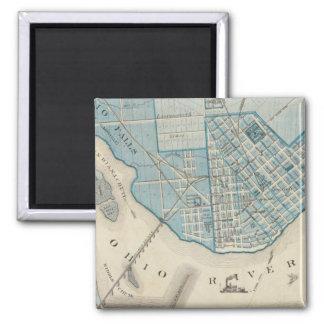 Plan de la ciudad de Jeffersonville y de la vecind Imán Cuadrado
