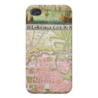 Plan de la ciudad de La Rochelle, 1736 iPhone 4 Fundas