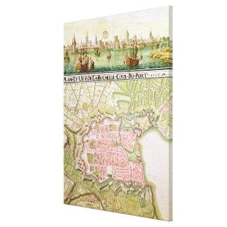 Plan de la ciudad de La Rochelle, 1736 Impresión En Lienzo