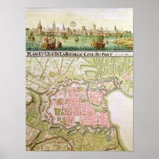 Plan de la ciudad de La Rochelle, 1736 Posters