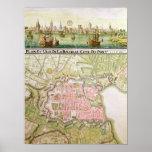 Plan de la ciudad de La Rochelle, 1736 Póster