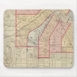 Plan de la ciudad de Minneapolis y de la vecindad Tapetes De Raton