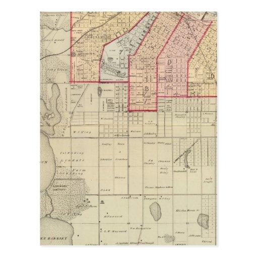 Plan de la ciudad de Minneapolis y de la vecindad Postales