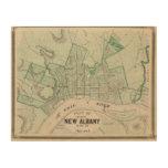 Plan de la ciudad de nueva Albany, Floyd Co, Cuadros De Madera