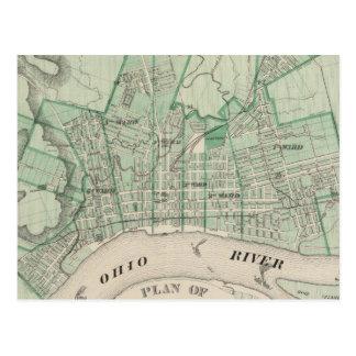 Plan de la ciudad de nueva Albany, Floyd Co, India Postales