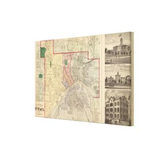 Plan de la ciudad de San Pablo y de la vecindad Impresiones En Lona Estiradas