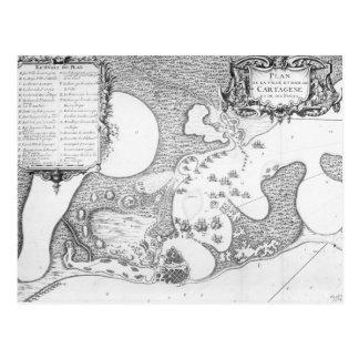 Plan de la ciudad y del puerto de Cartagena Postal