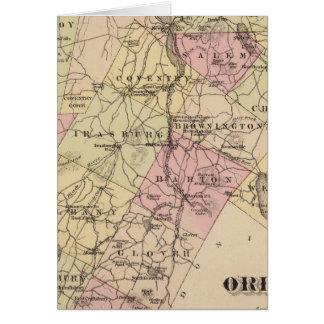 Plan de la compañía de Orleans en Vermont Tarjeta De Felicitación