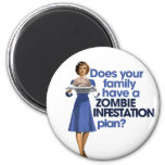Plan de la infestación del zombi imán de frigorifico