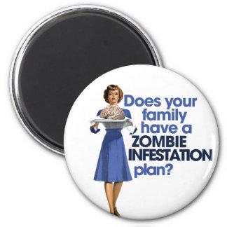 Plan de la infestación del zombi imán redondo 5 cm