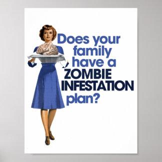 Plan de la infestación del zombi póster