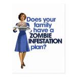 Plan de la infestación del zombi tarjetas postales