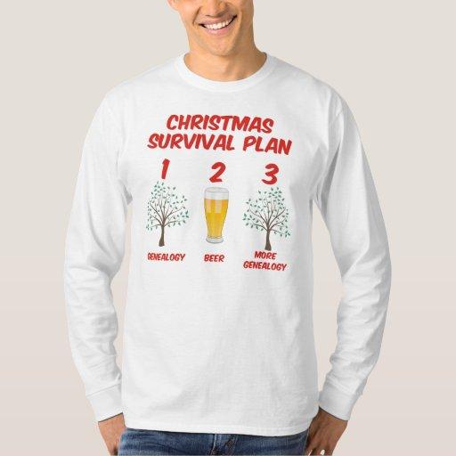 Plan de la supervivencia del navidad playera