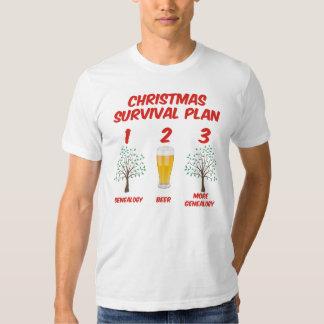 Plan de la supervivencia del navidad playeras
