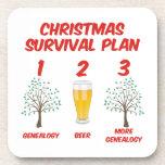 Plan de la supervivencia del navidad posavasos de bebida