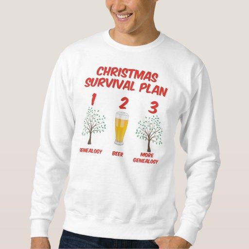 Plan de la supervivencia del navidad sudadera
