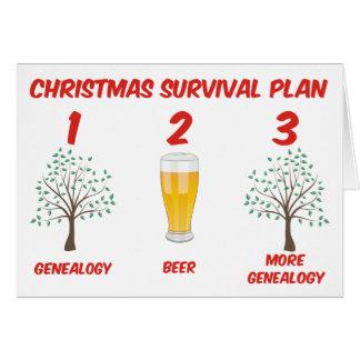 Plan de la supervivencia del navidad tarjeta de felicitación