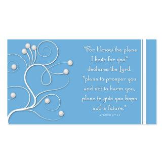 Plan de la zona del evangelio del remolino azul de tarjetas de visita
