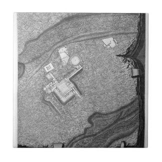 Plan de las fábricas existentes en el chalet azulejo cuadrado pequeño