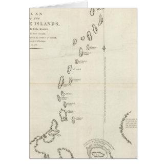 Plan de las islas de Kurile Tarjeta De Felicitación