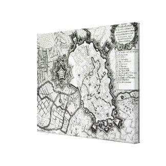 Plan de Lisle, 1736 Impresiones En Lona