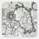 Plan de Lisle, 1736 Pegatina Cuadrada