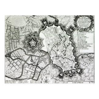 Plan de Lisle, 1736 Tarjeta Postal