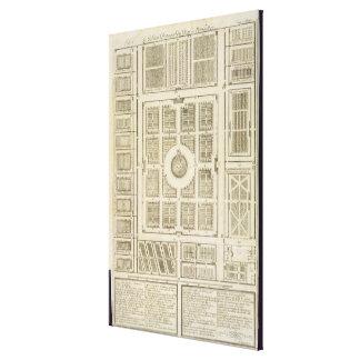 Plan de los huertos del rey en Versalles Lienzo Envuelto Para Galerias