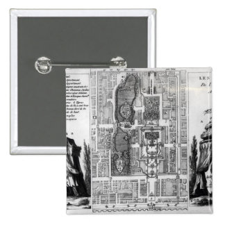 Plan de los jardines del emperador de Pekín, de Pin Cuadrada 5 Cm